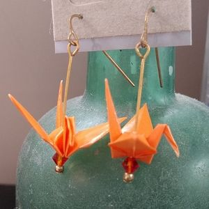 Origami paper crane earrings ✨ Mika-Made-It 🌺